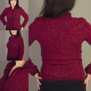 Close Fitting Zipped Cardigan