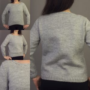 5b7ebf6ae8ae8e Everyday Loose Sweater - KnitsThatFit - Apps for custom knitting ...