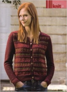 Rowan Winter Berries cardigan,  design by Jennie Atkinson, photo from Simply Knitting January2007