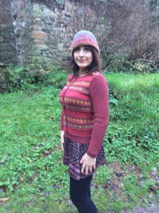 Rowan Rustic Cardigan modified for fit with KnitsThatFit sweater app